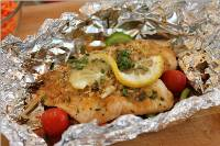 Fish Grilled in Foil Recipe Dish